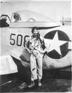 "Flight Commander John Benbow. You can read more of his story <a href=""http://506thfightergroup.org/missionjuly16.asp"">here</a>"
